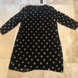 🎉SALE Dorothy Perkins black and gold sequin dress